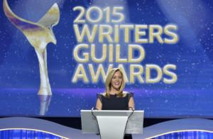 Lisa Kudrow About to Zing the WGA Show.