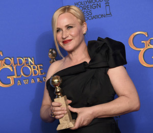Patricia Arquette Radiant at The Golden Globes