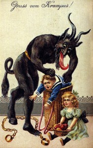 Krampus Greeting Card from the 1900s