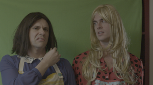Bryan Safi (left) and Jeffery Self (right) in YOU'RE KILLING ME - Courtesy of Wolfe Video