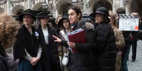 """Director Sarah Gavron works on the set of her new film """"Suffragette."""" Photo provided"""