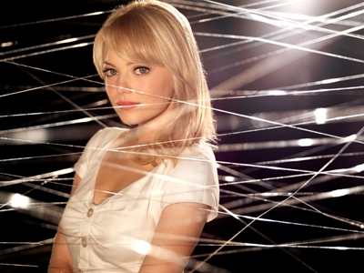 """Emma Stone is shown in a promotional shot for """"The Amazing Spider-Man."""" Sony Pictures photo"""
