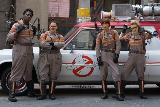 "From left, Leslie Jones, Melissa McCarthy, Kristen Wiig and Kate McKinnon star in Paul Feig's ""Ghostbusters"" remake. Photo provided"