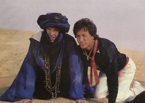 "Warren Beatty and Dustin Hoffman appear in a scene from ""Ishtar."" Photo provided"