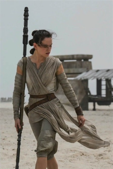 "Daisy Ridley stars in ""Star Wars: Episode VII - The Force Awakens."" Lucasfilm photo"