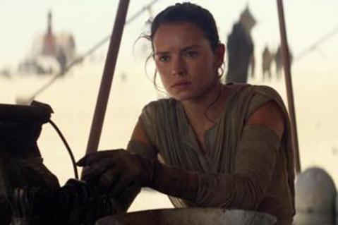 """Daisy Ridley stars in """"Star Wars: The Force Awakens."""" Lucasfilm photo"""