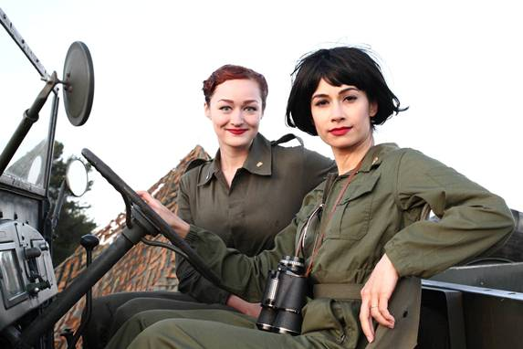"Alliance of Women Film Journalist member Govindini Murty, right, and Rachel Newell have completed their women-led WWII sci-fi short film, ""UFO Diary,"" featured in the January issue of American Cinematographer. Photo provided"