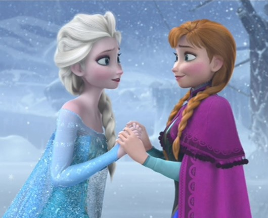 """Elsa and Anna appear in """"Frozen."""" Disney photo"""