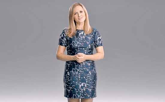"""Samantha Bee stars in her satirical late-night show """"Full Frontal"""" on TBS. TBS photo"""