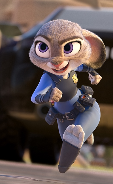 "Ginnifer Goodwin gives voice to Office Judy Hopps in ""Zootopia."" Disney Animation photo"