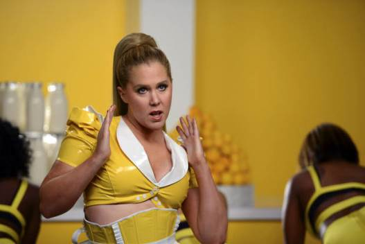"""In this image released by Comedy Central, Amy Schumer appears in a scene from her comedy series, """"Inside Amy Schumer."""""""