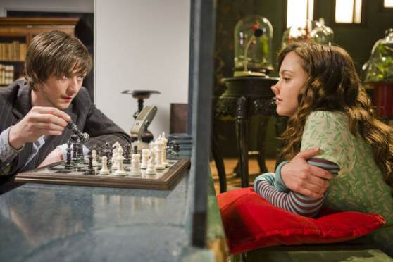 """Christina Ricci, right, who plays the title role of Penelope, is shown in a scene with James McAvoy in the film """"Penelope."""" Summit Entertainment photo"""