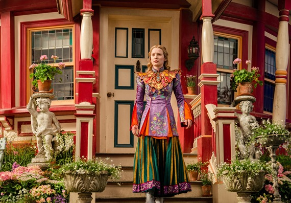 """Mia Wasikowska appears in a scene from """"Alice Through the Looking Glass."""" Disney photo"""