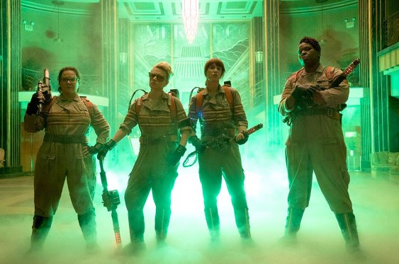 """From left, Melissa McCarthy, Kate McKinnon, Kristen Wiig and Leslie Jones star in the """"Ghostbusters"""" reboot. Sony Pictures phoot"""