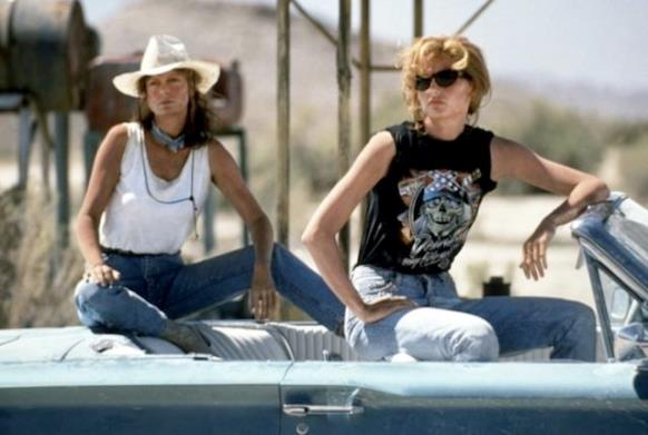 "Susan Sarandon, left, and Geena Davis star in 1991's ""Thelma & Louise."" MGM photo"
