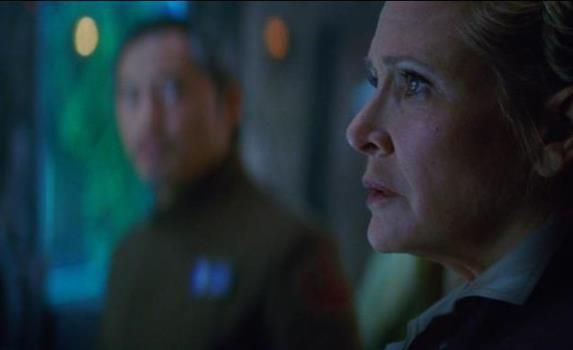 "Carrie Fisher appears as Gen. Leia Organa in ""Star Wars: The Force Awakens."" Lucasfilm photo"