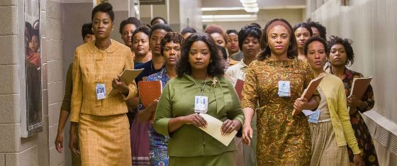 "Octavia Spencer, center, was nominated for best supporting actress for ""Hidden Figures."" 20th Century Fox photo"