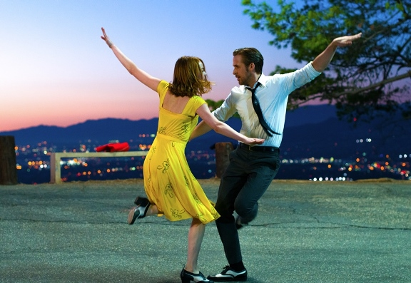 "Emma Stone and Ryan Gosling appear in a scene from ""La La Land."" Lionsgate photo"
