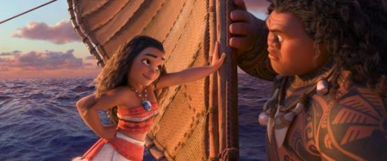 "Auli'i Cravalho and Dwayne Johnson provide the voices of the lead characters in ""Moana."" Disney photo"