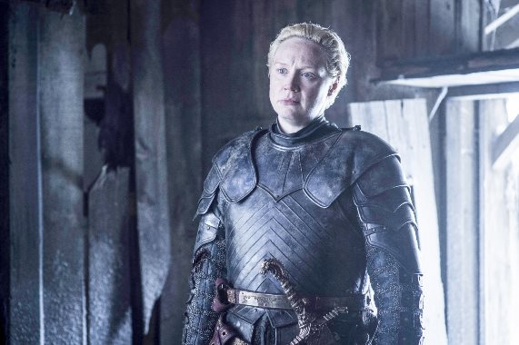 "Best known for her role as a knight in ""Game of Thrones,"" Gwendoline Christie is reportedly in negotiations to play a bounty hunter in the sci-fi thriller ""Darkest Minds."" HBO photo"