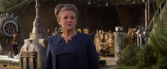 "Carrie Fisher appears as Gen. Organa at ""Star Wars: The Force Awakens."" Lucasfilm photo"