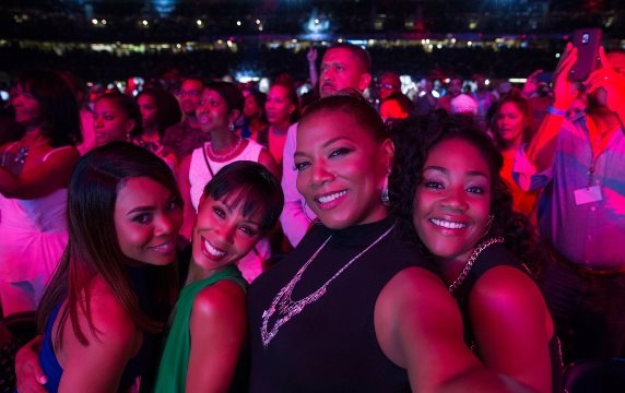 "Regina Hall, Jada Pinkett Smith, Queen Latifah and Tiffany Haddish star in the hit comedy ""Girls Trip."" Universal Pictures photo"