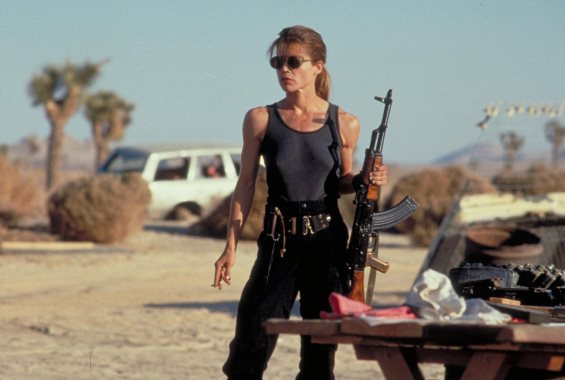 "Sarah Connor (Linda Hamilton) appears in a scene from 1991's ""Terminator 2: Judgment Day."" TriStar Pictures photo"
