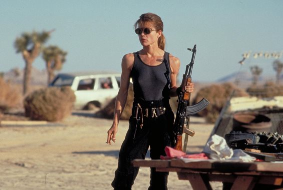 "Linda Hamilton appears in 1991's ""Terminator 2: Judgment Day."" Tristar Pictures photo"