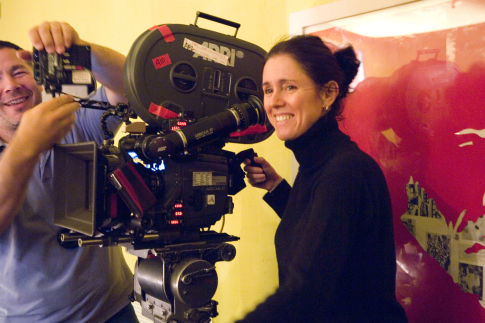"Julie Taymor appears on the set of ""Across the Universe."" Revolution Studios photo"