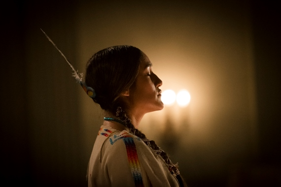 "Q'orianka Kilcher stars in the title role of the famed Chickasaw storyteller in the film ""Te Ata."" Photo provided by Chickasaw Nation Productions"