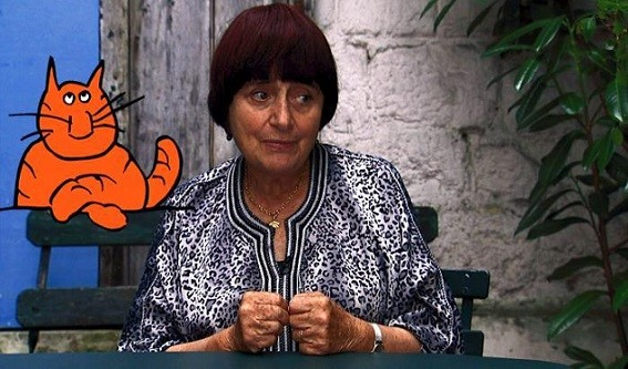 "Agnes Varda appears in her film ""The Beaches of Agnes."" PBS photo"