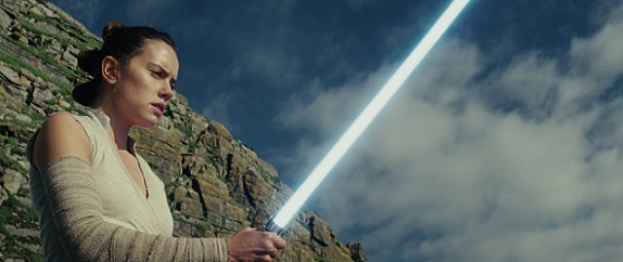 "Daisy Ridley stars as Rey in ""Star Wars: The Last Jedi."" Lucasfilm photo"