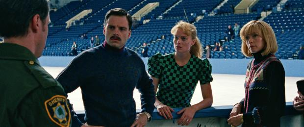 "Sebastian Stan as Jeff Gillooly, from left, Margot Robbie as Tonya Harding and Julianne Nicholson as Diane Rawlinson in a scene from ""I, Tonya."" Neon photo"