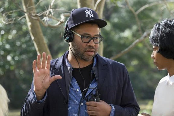 "Jordan Peele appears on the set of ""Get Out."" Universal Pictures photo"