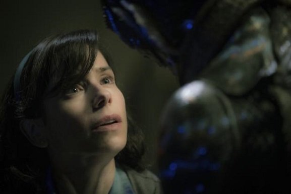 "Sally Hawkins, left, and Doug Jones appear in a scene from the film ""The Shape of Water."" Fox Searchlight Pictures photo"