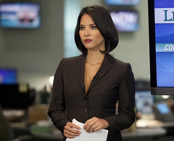 "Oklahoma native Olivia Munn appears in the HBO series ""The Newsroom."" Munn will be honored by her alma mater, the University of Oklahoma, April 13 at OU's Women's and Gender Studies Board of Advocates Voices for Change gala. HBO photo"