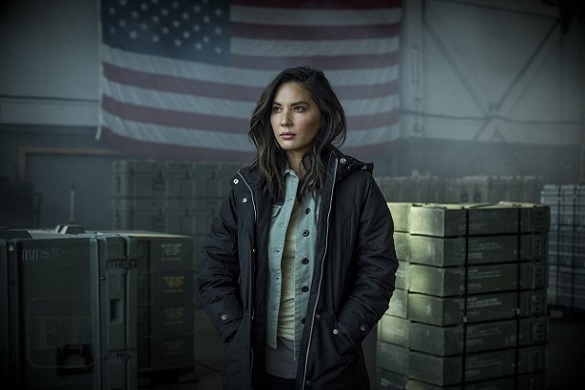 "Olivia Munn appears in Season 2 of ""Six."" History photo"