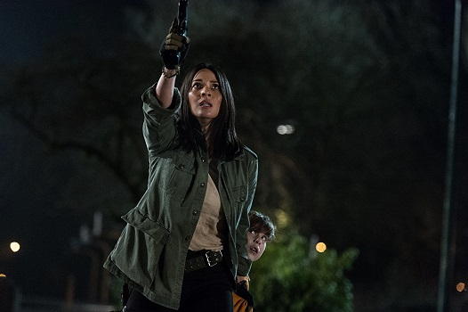 "Olivia Munn and Jacob Tremblay appear in ""The Predator."" Twentieth Century Fox photo"
