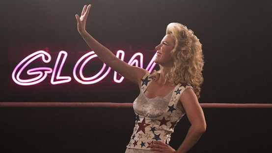 """Betty Gilpin appears in her Emmy Award-nominated role in """"GLOW."""" Netflix photo"""