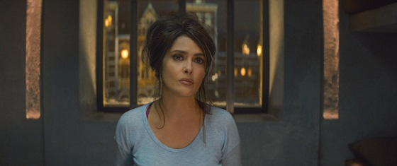 """Salma Hayek appears in a scene from the 2017 film """"The Hitman's Bodyguard."""" Hayek is continuing to expand her career into producing with the upcoming Netflix series """"Monarca."""" Lionsgate photo"""