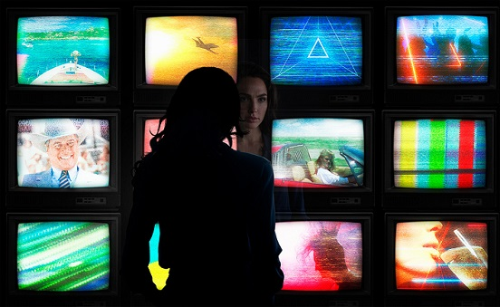 "Gal Gadot is shown in a scene from ""Wonder Woman 1984."" Warner Bros. photo"