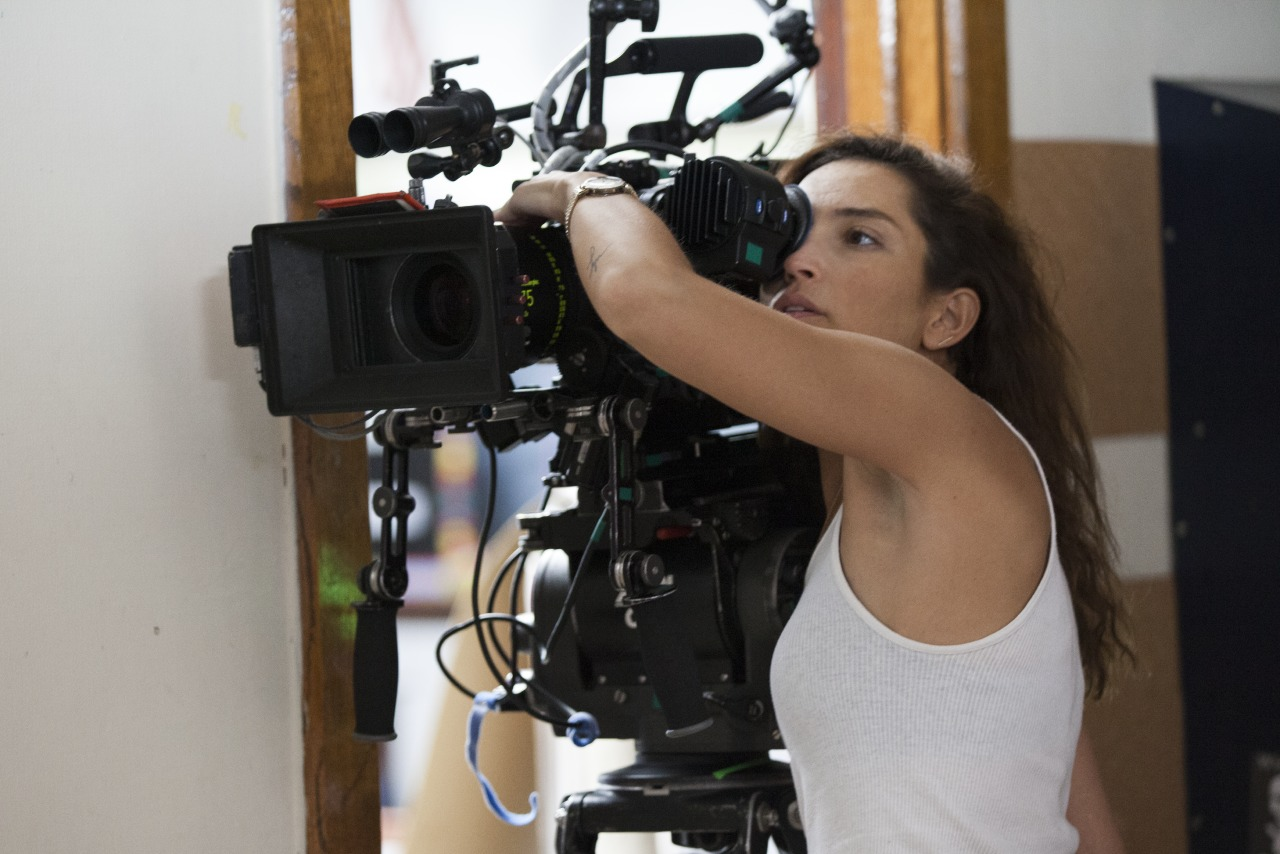 Reed Morano at work on MEADOWLAND. Photo credit Paul Sarkis