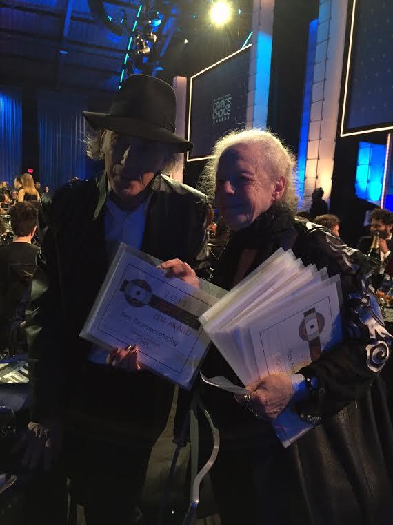Cinematographer Edward Lachman  accepts 2015 AWFJ EDA AWARD for Best Cinematography for CAROL