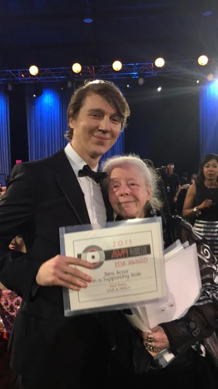 Paul Dano accepts 2015 AWFJ EDA Award for Best Supporting Actor for LOVE & MERCY