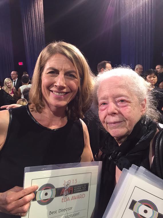 Boston Globe Investigative Journalist Sasha Pfeifer accepts 2015 AWFJ EDA Award for Best Narrative Feature on behalf of SPOTLIGHT