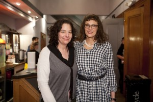 Rachel Rosen and Rebecca Miller at SIFF  screening of MAGGIE'S PLAN. Credit: Tommy Lau, courtesy of San Francisco Film Society