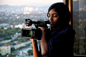 meera with camera