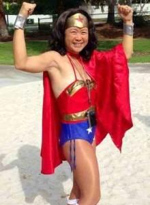 Sandy K as Wonder Woman