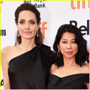 Angelina Jolie with Loung Ung