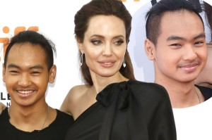 Angelina Jolie with her son, Maddox